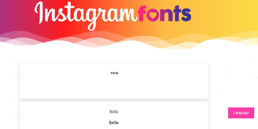 Letras de Instagram con Instagramfonts